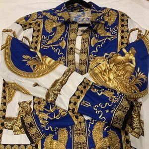 VERSACE print silk shirt